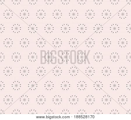 Vector ornamental seamless pattern, light minimalist geometric background, abstract monochrome floral texture tiny elements. Stylish modern design for prints seamless pattern, decor, digital, fabric abstract background, textile, cloth.