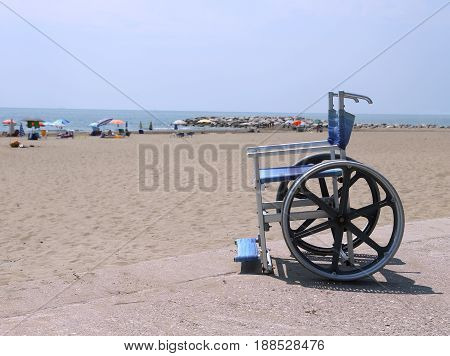 Special Wheelchair With Big Steel Wheels