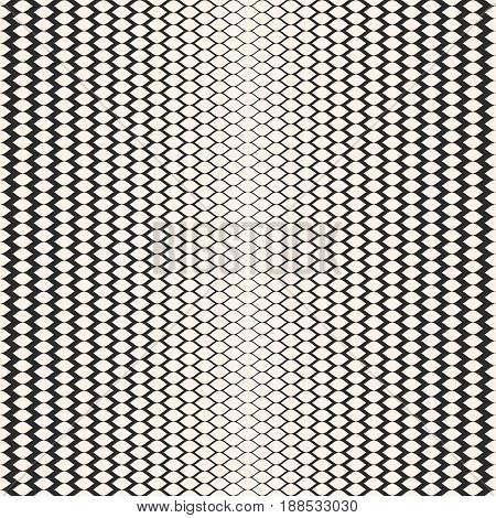Halftone seamless pattern, vector monochrome texture with gradient transition effect. Illustration of mesh with gradually thickness seamless background. Modern abstract texture. Stylish design for prints, decor, cloth.