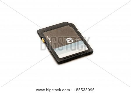 Sd memory card isolated on white background.