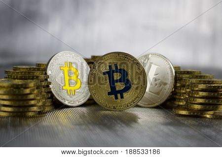 Silver Bitcoin, Litecoin And Gold Bitcoin