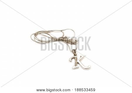 Nice pendant isolated on a white background.