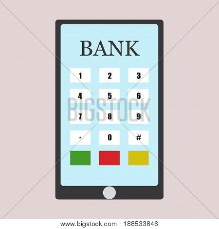 Credit card tablet payment isolated debit bank chip commerce vector illustration. Business money shopping buy finance plastic payment credit card.