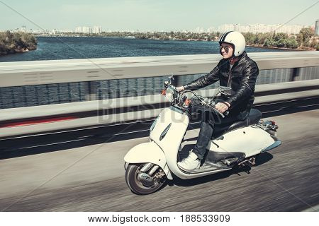 Guy On Scooter