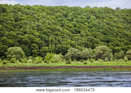 Dnister river landscape in Ternopil region of western Ukraine