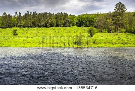 Strypa river landscape in Ternopil region of western Ukraine