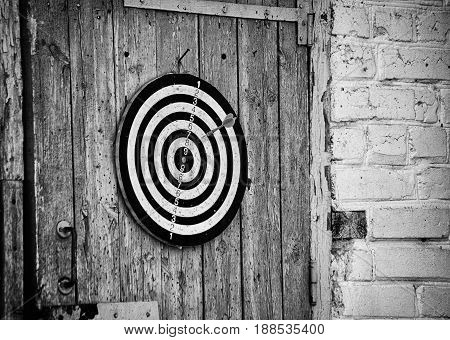 Darts On The Old Barn Door.