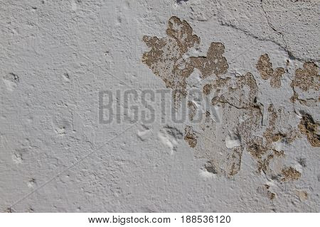 old white painted cement wall texture background