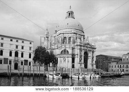 Basilica di Santa Maria della Salute. Summer Morning in Venice