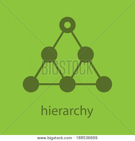 Hierarchy glyph color icon. Silhouette symbol. Team building and structure concept. Negative space. Vector isolated illustration