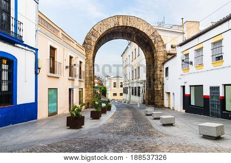 Arch of Trajan in Merida Extremadura Spain.