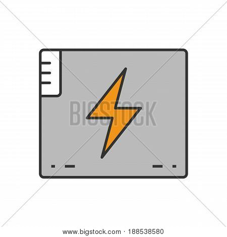 Accumulator battery color icon. Action camera battery. Isolated vector illustration