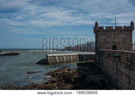 Sqala Du Port ( Northern Scala ), A Defensive Tower At The Fishing Port Of Essaouira, Moroc