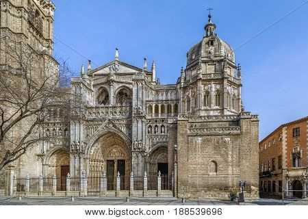 Primate Cathedral of Saint Mary of Toledo is a Roman Catholic cathedral in Toledo Spain