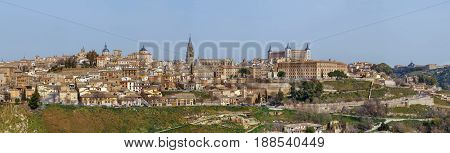 Panoramic view of Toledo historic center Spain