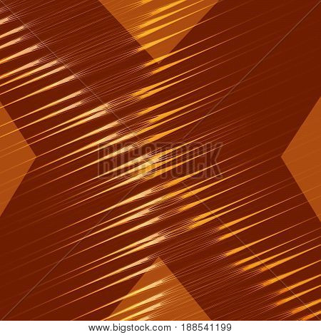 Gold abstract dark background. Vector abstract letter X. Line and movement on the background.