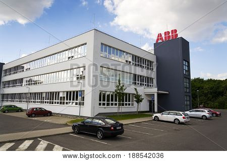 Prague, Czech Republic - May 26: Abb Company Logo On Headquarters  Building On May 26, 2017 In Pragu