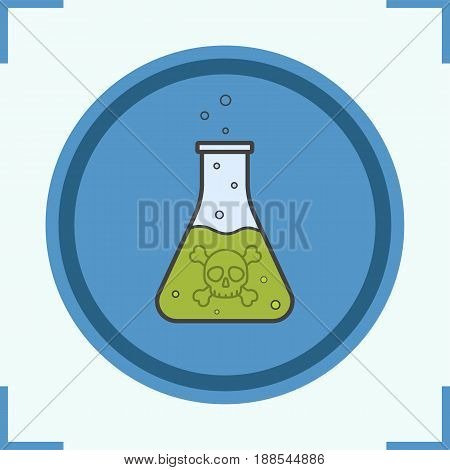Poison liquid color icon. Danger liquid. Isolated vector illustration