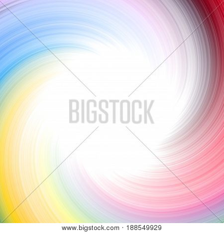 Round twirl colored colorful stripes rainbow frame background