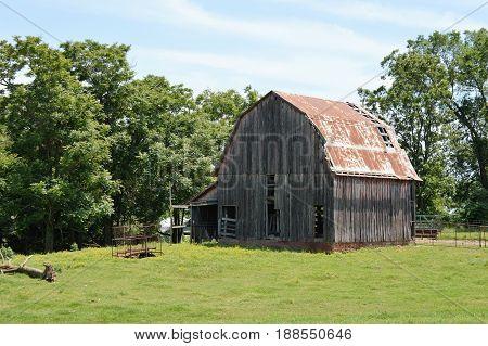 A barn on a farm in NW Arkansas