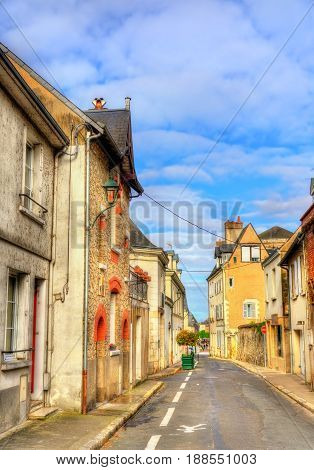 Street in the old town of Amboise, a town in the Loire Valley - France