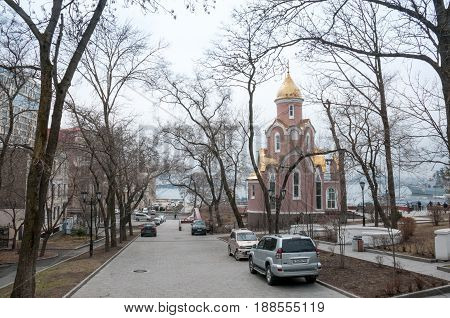 Russia, Vladivostok, April 8: The City Park In Early Spring