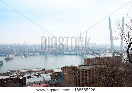 Russia, Vladivostok, April 8: Port Of Vladivostok, Golden Horn Bay