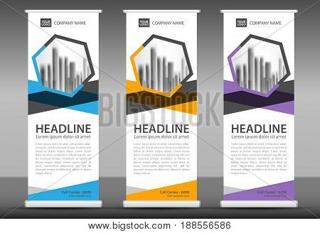 Roll up banner stand template design advertising stand x-banner