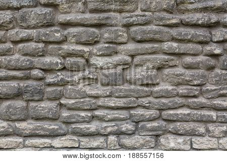 Old grey brick wall texture background. Abstract texture for designers.