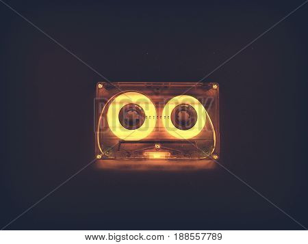 Audio cassettes for recorder 80s 90s 70s retro vintage old music time generation music tape wallpaper background style nostalgia song neon cover gold hits