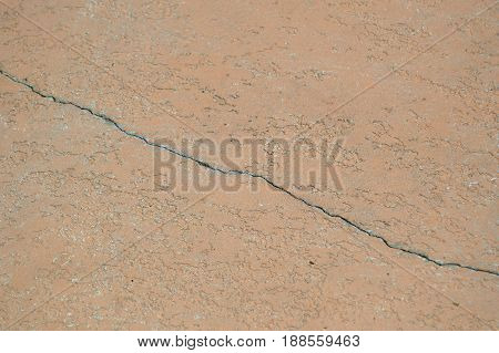 horizontal shot of cracked brown concrete background