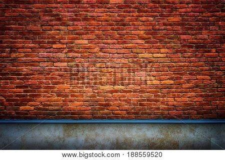 Brick Wall With Retro Effect Background For Design