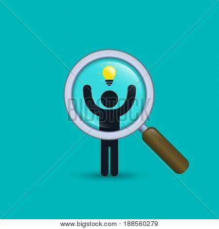 Search for talent with idea illustration. Looking for creativity employees . Vector business concept.