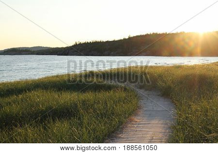 Boardwalk to the Ocean Water, South Canada