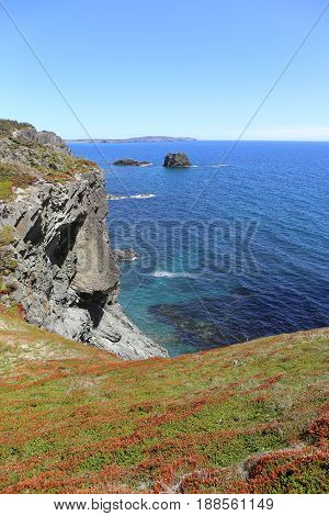 skerwink trail on the island, newfoundland, east canada