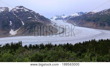 Ice andMountains, Salmon Glacier near Hyder, USA