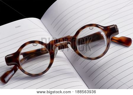 Funny looking reading glasses with room for your type.
