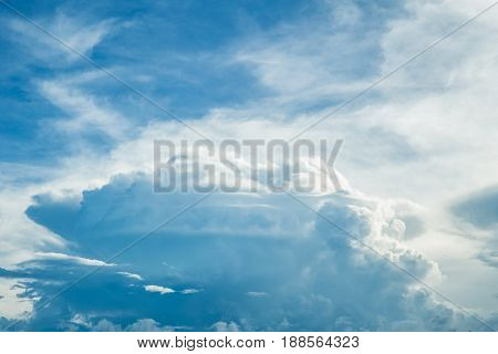 Paradise Blue Sky Cloud Summer Season Background.