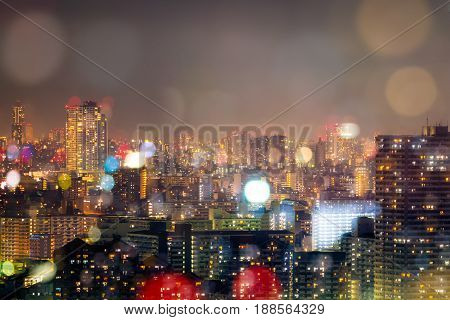 City Nightlife, Blur Bokeh Background