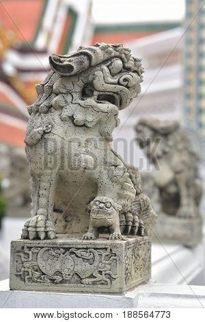 Ancient Lion Statue