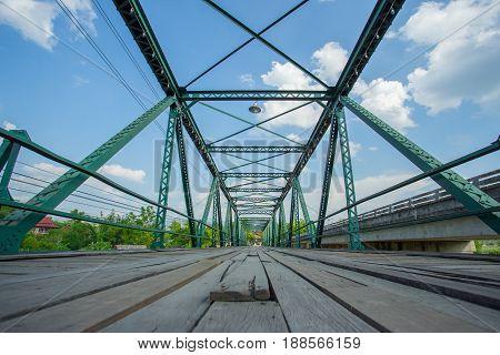 Memorial Bridge in Pai district at Mae Hong Son province, Thailand