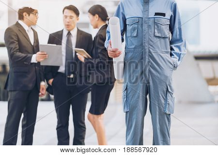 Group Of Engineer And Business People