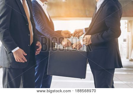 Action Of Business People Meeting Agreement