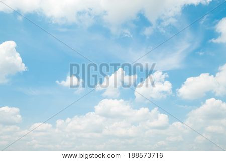 Beautiful blue sky with beautiful clouds for background.