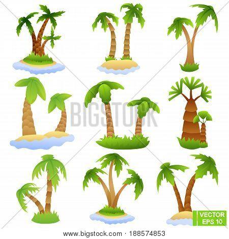 Set Of Palm Trees.