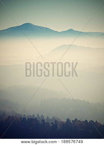 View On A Big Rounded Hill Beautiful Fantastic View