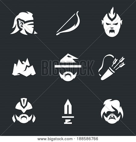 Elf, bow, orc, mountain, magician, quiver, soldier, sword, goblin.