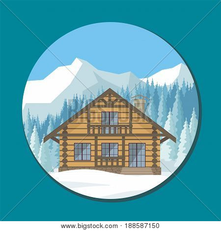 Chalet In The Mountains.eps