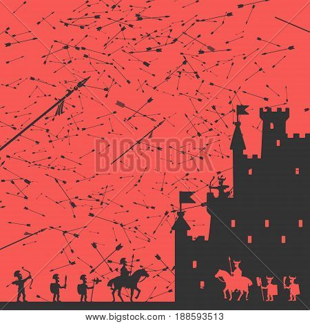 Siege of the Castle Vector Illustration eps 8 file format