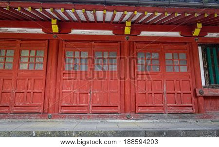 Wooden Architecture At A Shinto Shrine